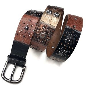 Fossil Boho Studded Leather Belt | Rare